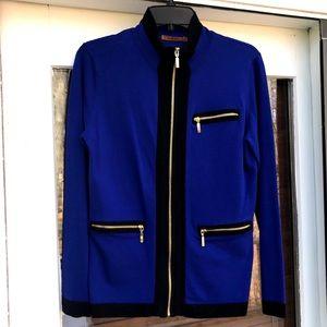 ❤️BELLDINI Royal Blue & Black Jacket Gold Zippers